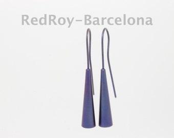 Titanium studded earrings SET of 3 different colors, titanium studs,