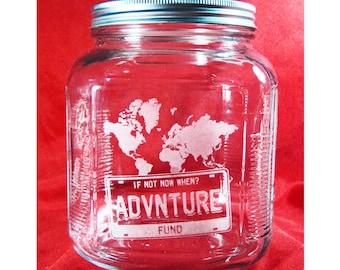 Travel, Vacation, Adventure Fund Jar