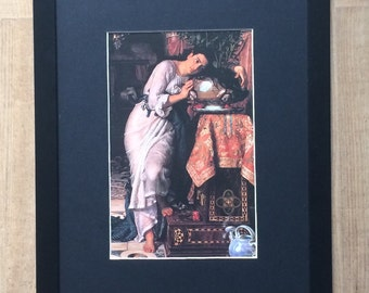 "Framed and Mounted Isabella and the Pot of Basilla by William Holman Hunt   - 16"" x 12"" - Religious Print"