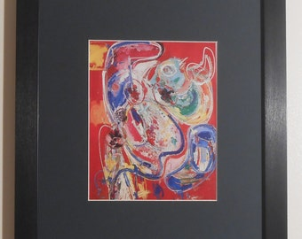 """Mounted and Framed - Bacchanale Print by Hans Holmann  - 16"""" x 12"""""""