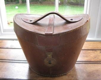Beautiful Antique Victorian Top Hat Box