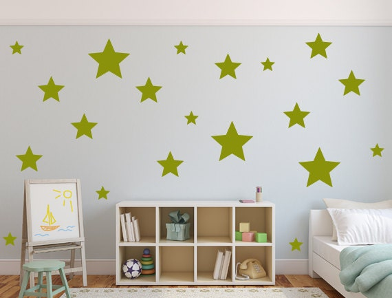 Gold Star Wall Decor: Star Wall Decals Wall Stickers Vinyl Sticker Gold Star