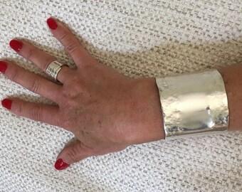 Solid Silver Large Cuff - Hallmarked