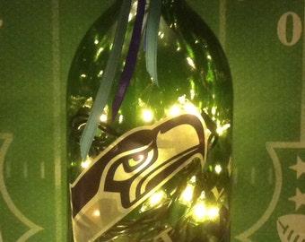 Seattle Seahawks Lighted Wine Bottle 1.5 Liter