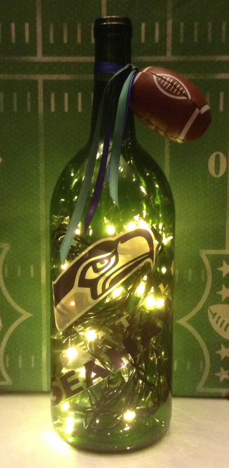 seattle seahawks lighted wine bottle 1 5 liter. Black Bedroom Furniture Sets. Home Design Ideas