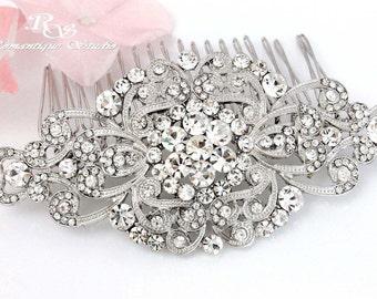 Swarovski crystal hair comb Bridal comb Rhinestone haircomb Wedding hair comb Crystal comb Wedding hair accessory Bridal headpiece - 5149