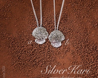 Lagotto Romagnolo, a small pendant on a chain, all in sterling silver
