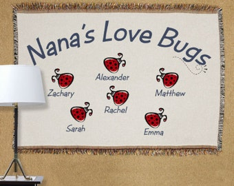 Personalized Love Bugs Tapestry