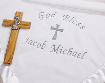 Personalized Embroidered Christening Blanket
