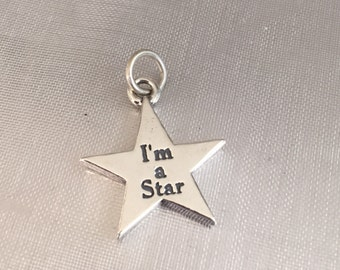 I'm a star sterling silver charm pendant