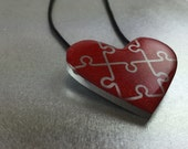 Autism Pendant, Autism Jewelry, Autism Awareness Necklace, Autism Awareness Jewelry, Autism Heart, Puzzle Piece Jewelry, Autism Puzzle Piece