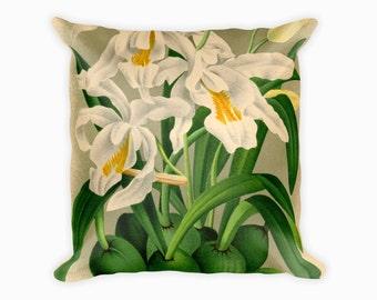 Floral Pillow Orchid Botanical Home Decor