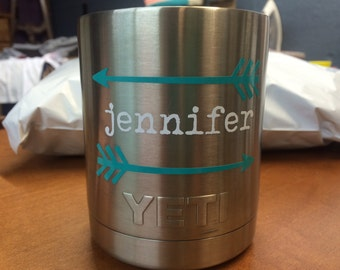Name with Arrows Decal, Custom Vinyl for Tumbler, Cup, Laptop