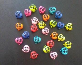 Buddha Beads - Acrylic - lot of 27