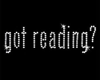 Rhinestone Transfer - Hot Fix Motif - Got Reading