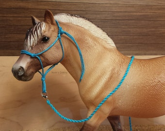Natural Horsemanship Rope Halter with Leadrope for Model Horses