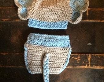 Crochet Elephant Set