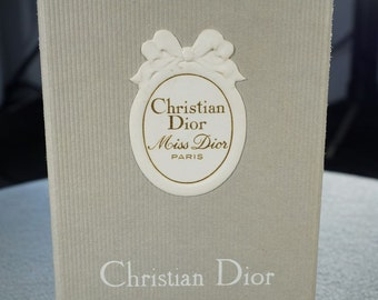 Vintage Christian Dior Miss Dior Paris Made In France Perfume Bottle Stopper Original Box MINT   **RL