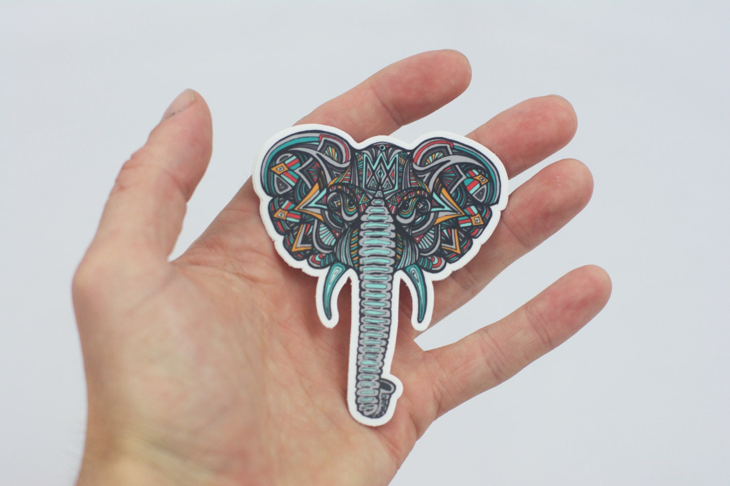 Bumper stickers design your own - Elephant Sticker Stocking Stuffer Elephant Design Laptop Sticker Tribal Elephant Art Bumper Sticker Laptop Sticker Paper And Stationary