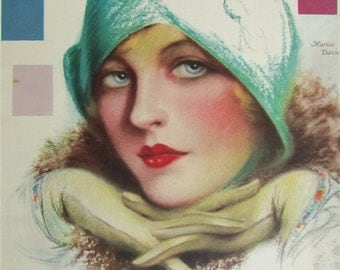 Original March 1929 Marion Davies Photoplay Magazine Cover By Charles Sheldon - Hollywood's Golden Age - Free Shipping