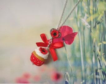 necklace poppy cupcake