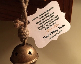 Personalized Kissing Bell tags - Wedding Bell Tags Wedding Favors