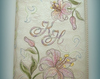 """A5 Diary/Planner with Removable Leather Cover """"Lily"""""""