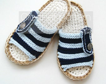 Crochet pattern- men slippers with rope soles,soles pattern included,slip ons,loafers,scuffs,clogs,adult,boys,all men sizes,man,cord,twine