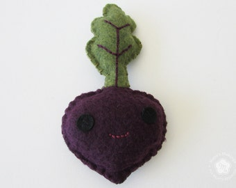 Beet Stuffed Animal Plush Kawaii Toy - Beet Plushie - Garden Vegetable plush stuffed animal