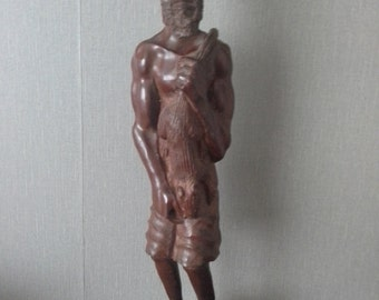 hand craved wooden man