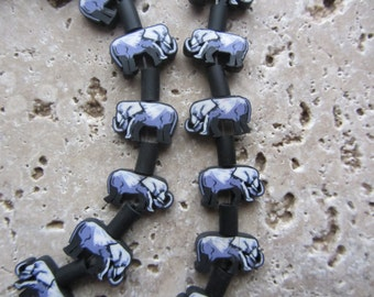 Polymer Clay Elephant Beads