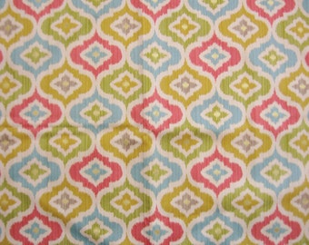 Large Waverly Fabric Sample - Golden Lunar Lattice Cotton Fabric - 25 by 25 inches