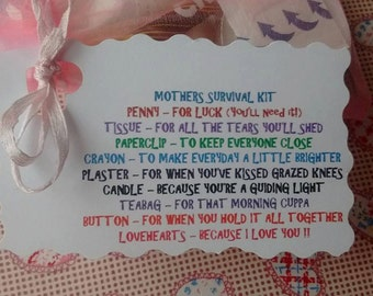 Pretty little Mother's Survival Kit, great gift idea for your Mum
