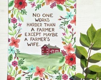 Farmer's Wife-vertical print on fine art paper
