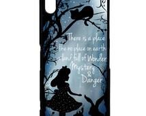 Alice in wonderland pretty silhouette quote phrase white rabbit art phone case cover for Sony Xperia Z5 Z5 mini