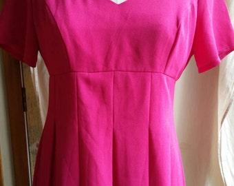 Upcycled hot pink vintage Kamikaze dress size 12