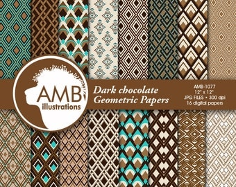 Geometric digital papers, masculine papers, dad papers, tie papers, diamond papers,  Geometric paper, AMB-1077