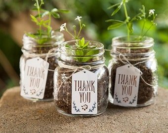 Rustic Thank You tags set of 10