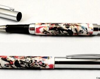 Luxury Rollerball Executive Pen Custom Abstract Art