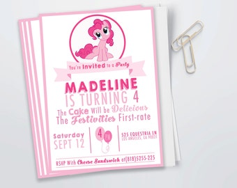 Pinkie Pie Birthday Invitation (Digital File)