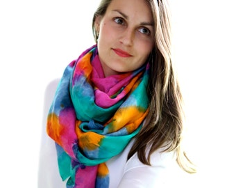 Solstice Scarf - Hand Dyed Silk