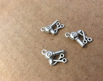Hair dryer charms (10 pieces)