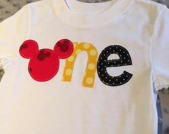 Mickey Mouse One Shirt, Mickey first birthday shirt, Mickey Mouse Invitations, Mickey Mouse Shirt, Mickey Mouse