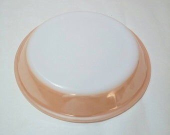 Fire King pie plate Peach Lustre Ware 9 in 1960's kitchen