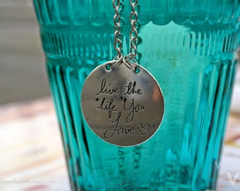 beautiful necklace * live life love * medaillon