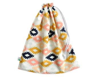 Waterproof Bag. Wet Dry Bag. Hot Yoga Bag. Drawstring Bag. Swim Bag. Beach Bag. Aztec Fabric Wet Bag. Gift for Women. Swimsuit Bag.