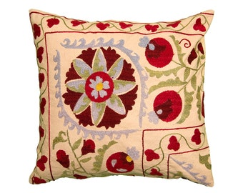 Cushion Cover - VINTAGE SUZANI DESIGN 12 - 45 x 45
