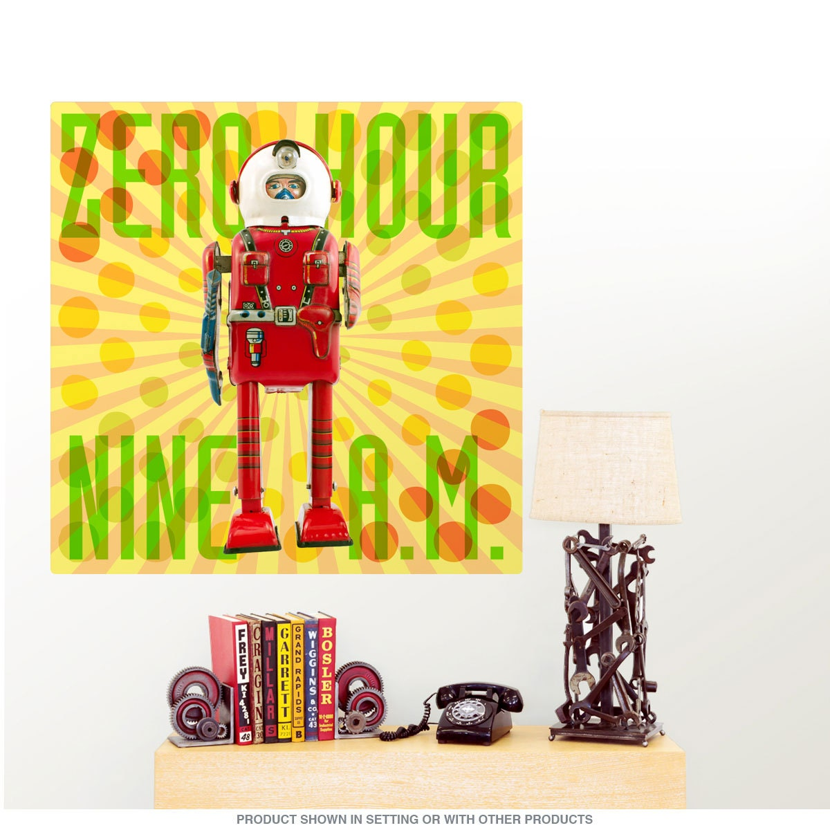 Zero Hour 9 AM Toy Astronaut Wall Decal 55758