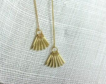 Metal Tassel Earrings