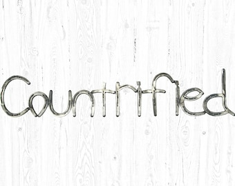 Horseshoe Countrified Sign - Horseshoe Art - Horseshoe Decor - Farmhouse Decor - Farmhouse Wall Decor - Wall Art - Country Decor